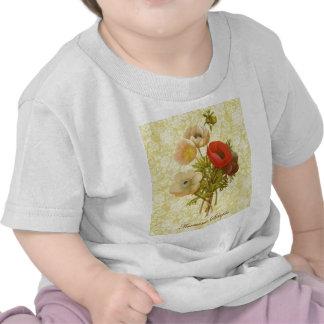 Anémona antigua botánica camisetas