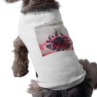 Anémona blanca playera sin mangas para perro