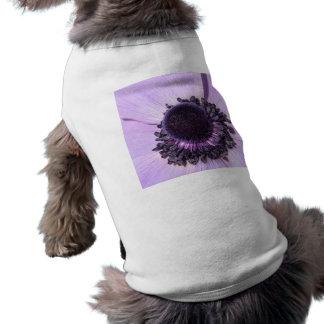 Anémona de la lila playera sin mangas para perro