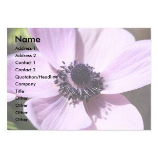 Anémona de la lila tarjetas de visita grandes