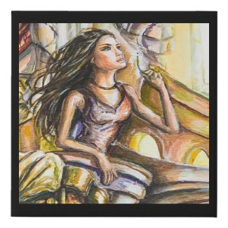 Anemona Faux Canvas Print