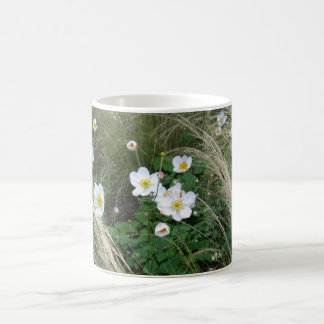 Anémona japonesa - fotografía taza de café