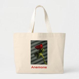 Anémona roja bolsa tela grande