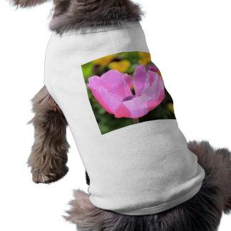 Anémona rosada playera sin mangas para perro