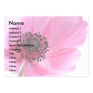 Anémona rosada tarjetas de visita grandes