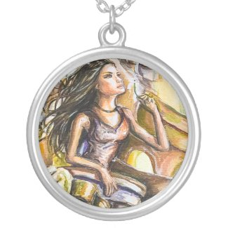 Anemona Silver Plated Necklace