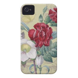 Anémona y clavel carcasa para iPhone 4 de Case-Mate