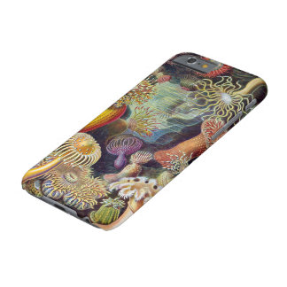 Anémonas de mar subacuáticas del vintage de Ernst Funda Para iPhone 6 Barely There