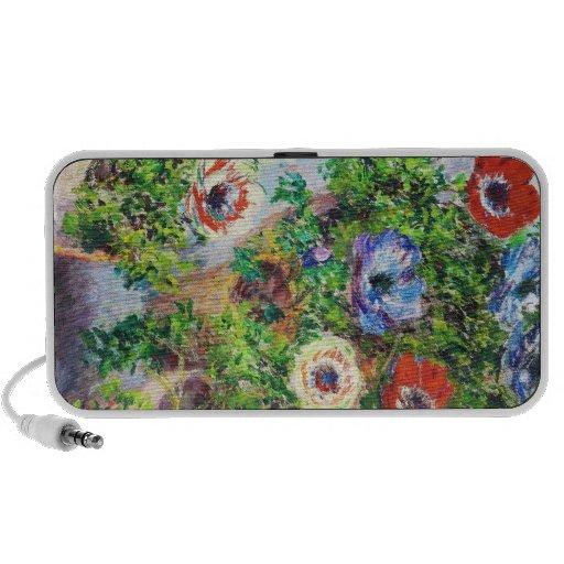 Anémonas en pintura de la flor de Claude Monet del Notebook Altavoces