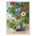 Anémonas en pintura de la flor de Claude Monet del Tarjetas