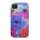 Anémonas hermosas de la pintura de la bella arte d vibe iPhone 4 funda