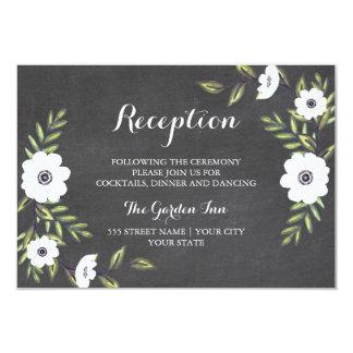"""Anémonas pintadas pizarra - tarjeta de la invitación 3.5"""" x 5"""""""