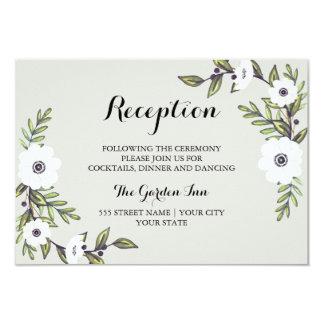 """Anémonas pintadas - tarjeta de la recepción invitación 3.5"""" x 5"""""""