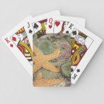 Anémonas verdes gigantes y estrellas de mar ocres cartas de póquer