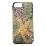 Anémonas verdes gigantes y estrellas de mar ocres funda iPhone 7