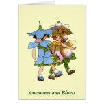 Anémonas y Bluets Felicitaciones