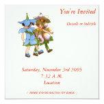 Anémonas y Bluets Invitación 13,3 Cm X 13,3cm