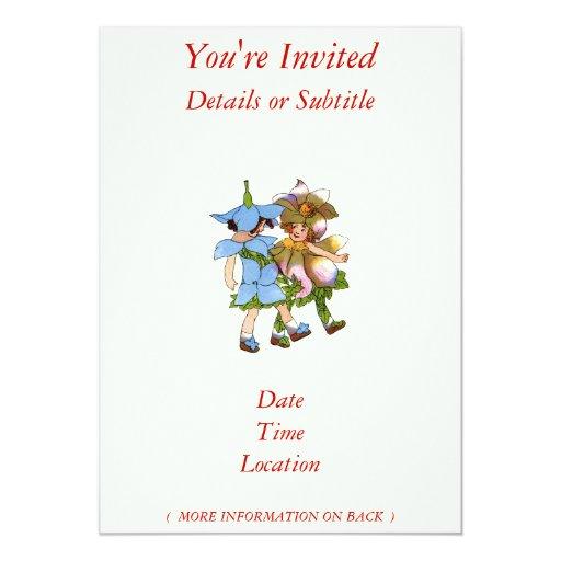 Anémonas y Bluets Invitación Personalizada