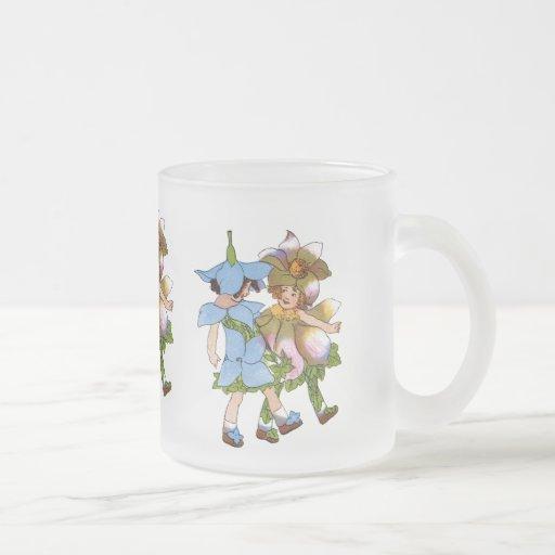 Anémonas y Bluets Taza De Cristal