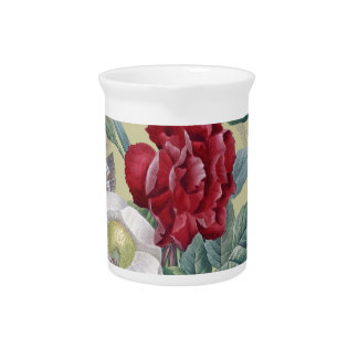 Anemone And Carnation Drink Pitcher