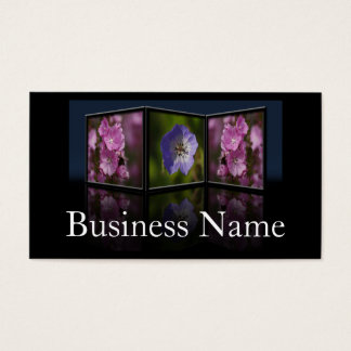 Anemone and Daisy Tryptych Frame Business Card