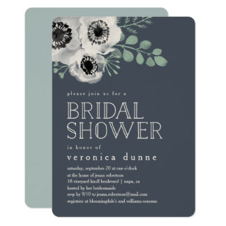 Anemone and Eucalyptus Bridal Shower Invitation