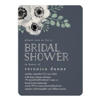 Anemone and Eucalyptus Bridal Shower Invitation