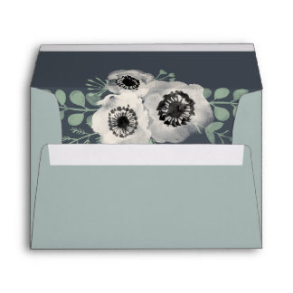 Anemone and Eucalyptus Floral Envelope