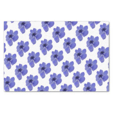 Anemone Blue Flower Tissue Paper