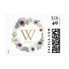 Anemone Bouquet Monogrammed Stamp at Zazzle