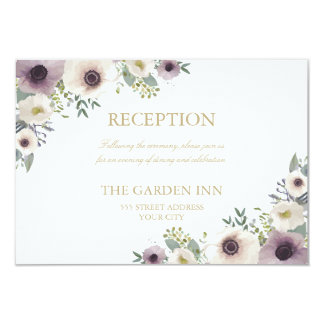 Anemone Bouquet Reception Card