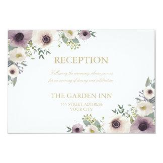 Anemone Bouquet Reception Card