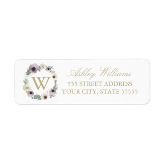 Anemone Bouquet Return Address Labels
