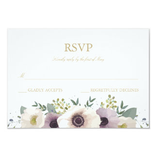 Anemone Bouquet RSVP Card