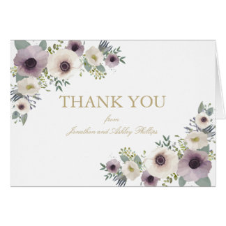 Anemone Bouquet Thank You Note Card