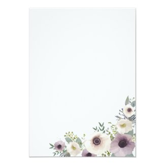Floral Wedding Invitation with Anemone Bouquet