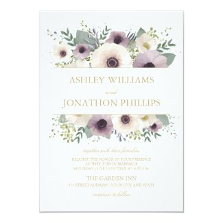Anemone Bouquet Wedding Invitation