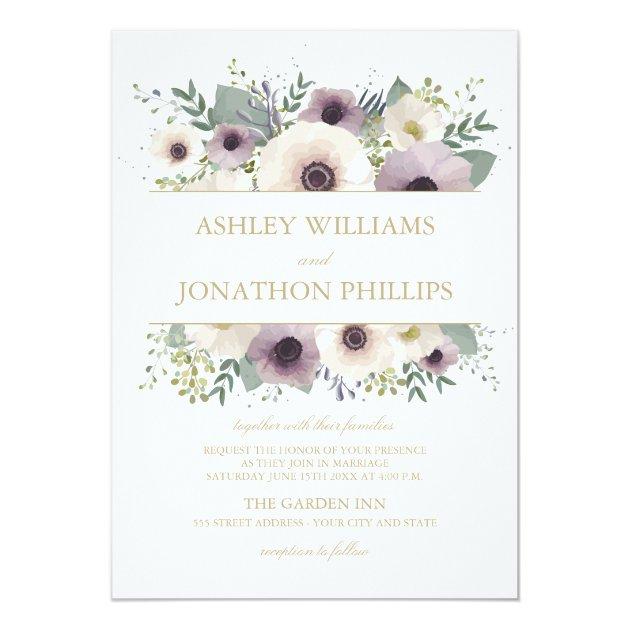 Anemone Bouquet Wedding Invitation Zazzle Com