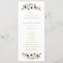 Anemone Bouquet Wedding Program