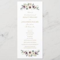 Anemone Bouquet Wedding Program