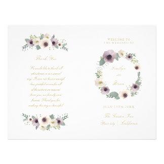 Anemone Bouquet - wedding program
