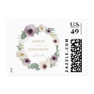 Anemone Bouquet Wedding Stamp