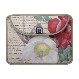 Anemone Carnation Shabby MacBook Pro Sleeve