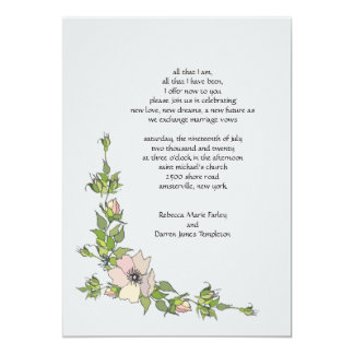 Anemone Corner Second Marriage Wedding Invitations