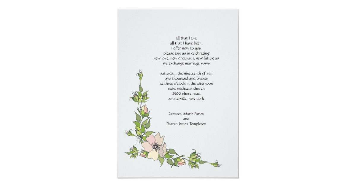 Anemone Corner Second Marriage Wedding Invitations
