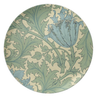 'Anemone' design (textile) Dinner Plate