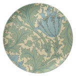 'Anemone' design (textile) Party Plate