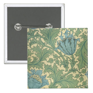'Anemone' design (textile) Pinback Button
