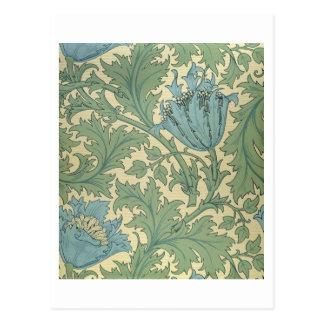 'Anemone' design (textile) Postcard