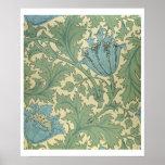 'Anemone' design (textile) Print